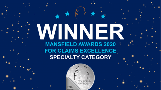 "GT Insurance - Winner of the 2020 Mansfield Awards ""Specialty"" category"